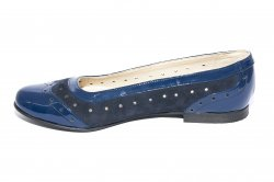 Pantofi balerini dama  - Pantofi balerini dama piele 026.5 albastru blu 34-41