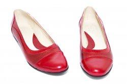 Pantofi balerini dama  - Pantofi balerini dama piele 026.8 rosu bordo 34-41