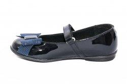 Pantofi balerini copii  - Pantofi balerini fete eleganti pj shoes Lia blu lac pipit 27-36