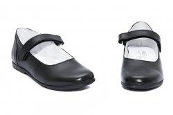 Pantofi balerini copii  - Pantofi balerini fete hokide scoala 272 negru 26-36