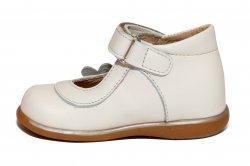 Pantofi balerini copii  - Pantofi balerini fete inalti pe glezna 746 bej bej 18-25