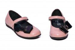 Pantofi balerini copii  - Pantofi balerini fete pj shoes piele Fantasy piersica negru 27-36