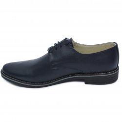 Pantofi barbati  - Pantofi barbati piele naturala 9 blu box 36-46