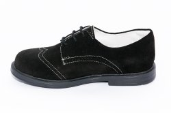 Tenisi copii  - Pantofi copii din piele intoarsa hokide 207 negru brodat 26-38