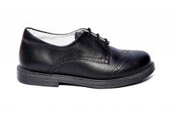 Pantofi copii  - Pantofi copii eleganti piele naturala hokide 207 negru box 26-37