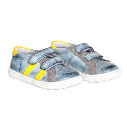 Pantofi sport copii  - Pantofi copii pj shoes Skate albastru galben 27-37