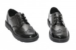 Pantofi copii  - Pantofi copii scoala pj shoes Frigerio 03 negru gri 31-38