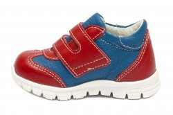Pantofi sport copii  - Pantofi copii sport piele pj shoes Tokyo blu rosu 18-26