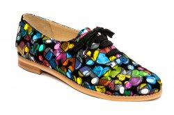 Pantofi dama   - Pantofi dama piele 026s1 pazel 34-41