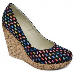 Pantofi dama cu toc  - Pantofi dama platforma piele talpa 10cm Tisa 569 sah 34-41