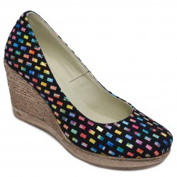Pantofi dama cu toc  - Pantofi dama platforma piele talpa 8cm Oana sah 34-41