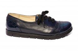 Pantofi copii  - Pantofi fete comozi piele naturala 026s1 blumarin lac 34-41