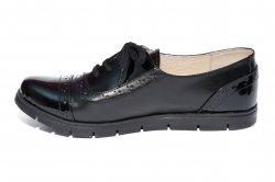 Pantofi copii  - Pantofi fete piele TS 026s1 negru lac 34-41