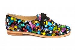Pantofi copii  - Pantofi fete piele hape 026s1 pazel 34-41