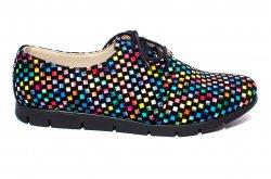 Pantofi copii  - Pantofi fete piele naturala 026s2 negru sah 34-40