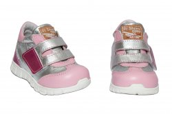 Pantofi sport copii  - Pantofi fete piele sport pj shoes Tokyo roz 18-26