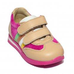 Pantofi sport copii  - Pantofi fete sport avus 729 fuxia bej 19-28