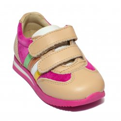 Pantofi sport copii  - Pantofi copii sport avus 727 blu bej 19-28
