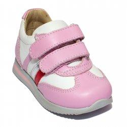 Pantofi sport copii  - Pantofi fete sport avus 730 alb roz 19-28