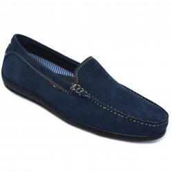 Pantofi barbati  - Pantofi mocasini barbati din piele intoarsa MC01 galben mustar 39-46