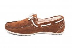 Pantofi barbati  - Pantofi mocasini barbati piele intoarsa 873 maro 39-45