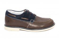 Pantofi copii  - Pantofi mocasini copii hokide 408 maro blu 26-37