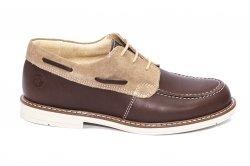 Pantofi copii  - Pantofi mocasini copii piele naturala hokide 408 maro cafe 26-37