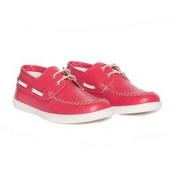 Pantofi copii  - Pantofi mocasini copii piele pj shoes Jose rosu 27-36