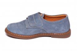 Pantofi copii  - Pantofi soala copii piele Denis Blue 24-36