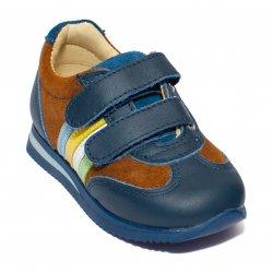 Pantofi sport copii  - Pantofi copii sport avus 728 blu verde 19-28