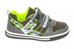 Pantofi sport copii  - Pantofi sport copii 1026 gri verde 27-32