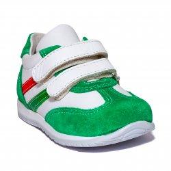 Pantofi sport copii  - Pantofi sport copii avus 795 verde alb 19-27