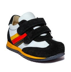 Pantofi sport copii  - Pantofi sport copii avus 796 negru alb 19-27