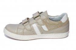 Pantofi sport copii  - Pantofi sport copii hokide piele naturala 316 bej 26-35