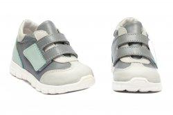 Pantofi sport copii  - Pantofi sport copii pj shoes Tokyo vernil gri 18-26