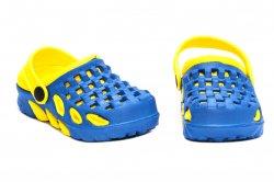 Papuci copii  - Papuci copii crocsi de plaja 1033 albastru galben 18-35