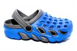 Papuci copii  - Papuci crocsi copii de plaja 1033 albastru negru 30-35