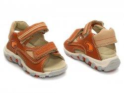 Sandale copii  - Sandale copii din piele 178 portocaliu
