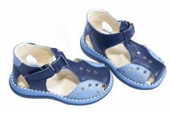 Sandale copii  - Sandale baieti 345 blu gri