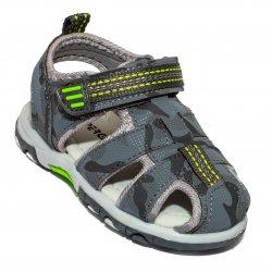Sandale copii  - Sandale baieti brant din piele 1611 gri 20-25
