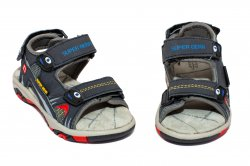Tenisi copii  - Sandale baieti cu brant din piele 298 blu 24-30