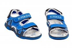 Sandale copii  - Sandale baieti de vara super gear 1341 albastru 24-35