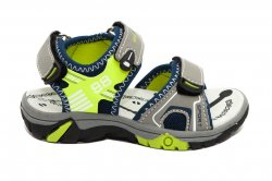 Sandale copii  - Sandale baieti de vara super gear 1342 gri blu verde 24-35