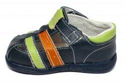 Sandale copii  - Sandale baieti flexibile 1597 blu verde 19-24