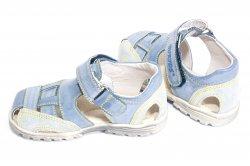 Sandale copii  - Sandale copii hokide 109 albastru gri