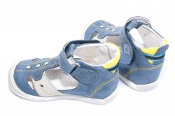 Sandale copii  - Sandale copii hokide 273 albastru galben