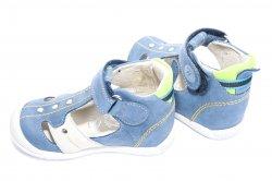 Sandale copii  - Sandale copii hokide 273 albastru verde