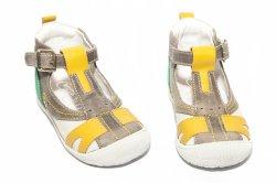 Sandale copii  - Sandale baieti hokide 306 gri galben 18-24