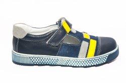 Sandale copii  - Sandale baieti hokide 382 albastru galben 20-32