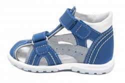 Sandale copii  - Sandale baieti hokide picior lat 311 blu gri 18-25